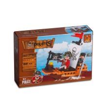 Игровой конструктор, Ausini, 27303, Пираты, Капитан пиратов на лодке, 66 деталей, Цветная коробка
