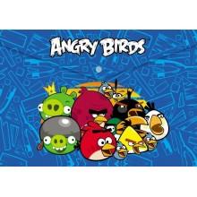Папка-конверт Пластиковая на кнопке Hatber А4ф -ANGRY BIRDS-AKk4_10440