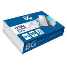 """Скобы для степлера """"BG"""", №10, оцинкованные, 1000шт в картонной упаковке"""