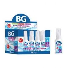 """Корректирующая жидкость """"BG"""", 10мл, на водной основе, кисточка и металлический наконечник"""