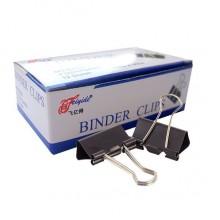 """Зажимы для бумаг """"Blinder Clips"""", 25мм, чёрные, 12шт в картонной упаковке"""