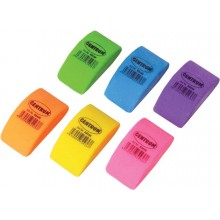 """Ластик из синтетического каучука """"Centrum Neon Mini"""", 40х22х10мм, фигурный, ассорти, 24шт в упаковке"""