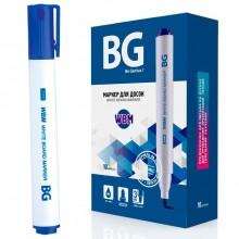 """Маркер для доски """"BG WBM"""", 3мм, круглый наконечник, синий, 10шт в упаковке"""