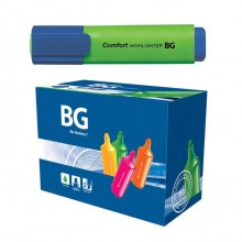 """Текстовыделитель """"BG Comfort"""", 1-5мм, клиновидный наконечник, зелёный, 24шт в упаковке"""