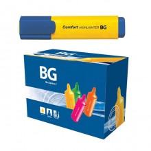 """Текстовыделитель """"BG Comfort"""", 1-5мм, клиновидный наконечник, жёлтый, 24шт в упаковке"""
