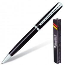 """Ручка шариковая """"Brauberg Cayman Black"""", 1мм, синяя, металлический чёрный корпус, поворотный механиз"""