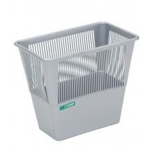 """Корзина пластиковая для бумаг """"Стамм"""", 12л, прямоугольная, сетчатая, серая"""