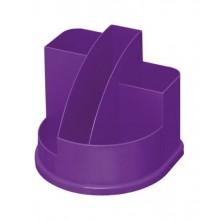 """Настольный пластиковый органайзер """"Стамм"""", серия """"Авангард Violet"""", без наполнения, фиолетовый"""