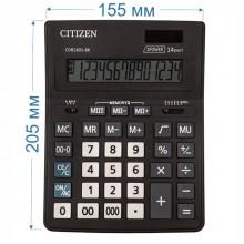 Калькулятор настольный Citizen Business Line CDB1401-BK 14-разрядный 205x155x35мм, чёрный