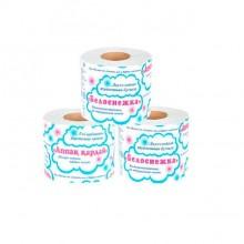 """Туалетная бумага """"Белоснежка"""", двухслойная, белая, 12 рулонов в упаковке"""