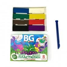 """Пластилин """"BG"""" 8 цветов, 160гр, со стеком """"Времена года"""", в картонной упаковке"""