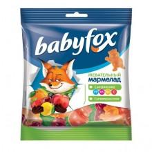 """Жевательный мармелад """"BabyFox"""", 70гр, Бегемоты"""