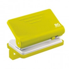 """Дырокол """"BG Active"""", пластиковый, 10л, с линейкой, ассорти, в картонной упаковке"""