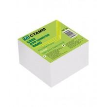 """Блок бумаги для заметок """"Стамм"""", 8*8*5см, белый, непроклеенный, в плёнке"""