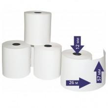 Чековая лента термо слой 57 мм х 26 м х 12 мм