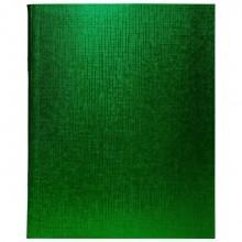 """Тетрадь """"Hatber"""", 48л, А5, клетка, обложка бумвинил, на скобе, серия """"Metallic - Зелёная"""""""