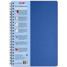 """Тетрадь """"Hatber HD"""", 100л, А4, клетка, с карманом, 4цв блока, обложка пластик, серия """"Micro"""", синяя"""