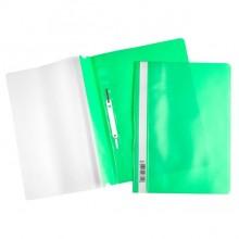 """Папка-скоросшиватель пластиковая """"Hatber"""", А4, 120/160мкм, прозрачный верх, зелёная"""