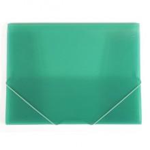 """Папка пластиковая """"Hatber"""", А4, 400мкм, на резинке, серия """"Line - Зелёная"""", полупрозрачная"""