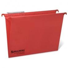 """Папка картонная подвесная """"Brauberg"""", А4, 315x245мм, 80л, 220гр/м2, красная, 10шт в упаковке"""