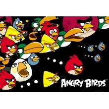 Папка-конверт Пластиковая на кнопке Hatber А4ф -ANGRY BIRDS-AKk4_10484