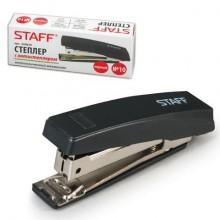 """Степлер """"Staff"""", №10, 10л, пластиковый корпус, чёрный, в картонной упаковке"""