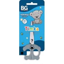 """Ножницы детские """"BG"""", 10,5см, нержавеющая сталь, серия """"Timka, Ducky, Pandi"""", в блистере"""