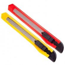 """Нож канцелярский """"Hatber X-Blade"""", 9мм, нержавеющее лезвие, ассорти, в пакете"""