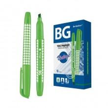 """Текстовыделитель """"BG Vintage"""", 1-4мм, клиновидный наконечник, зелёный"""