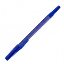 """Ручка шариковая """"Союз School"""", 1мм, синяя, синий корпус с блёстками"""