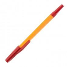 """Ручка шариковая """"Союз School"""", 1мм, красная, оранжевый корпус"""