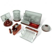 """Настольный набор """"Galant Wood&Metal"""", 6 предметов, красное дерево"""