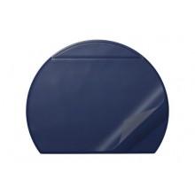 """Настольное пластиковое покрытие """"Durable"""", 65x52см, полукруглое, прозрачный верхний слой, синее"""