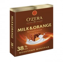 "Шоколад ""O'Zera Milk & Orange"", 38%, 90гр"