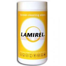 Чистящие салфетки Lamirel для экранов всех типов в тубе, 100 шт.