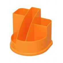 """Настольный пластиковый органайзер """"Стамм"""", серия """"Авангард Mandarin"""", без наполнения, оранжевый"""