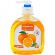 """Жидкое мыло """"OfficeClean"""", Апельсин, 300мл, с дозатором"""