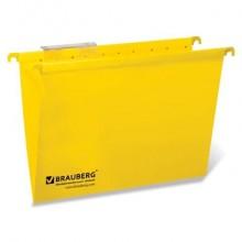 """Папка картонная подвесная """"Brauberg"""", А4, 315x245мм, 80л, 220гр/м2, жёлтая, 10шт в упаковке"""