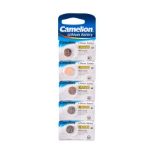 Батарейка, CAMELION, CR1216-BP5 Lithium Battery, CR1216 3V, 220 mAh, 5 шт. в блистере