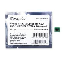 Чип, Europrint, CE320A, Для картриджей HP CLJ CM1415/CP1525, 2000 страниц.
