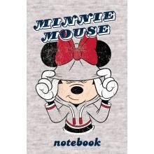 """Блокнот """"Hatber"""", 48л, А7, клетка, 3 цветный блок, ламинация, на клею, серия """"Микки Маус - Disney"""""""