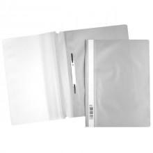 """Папка-скоросшиватель пластиковая """"Hatber"""", А4, 120/160мкм, прозрачный верх, серая"""