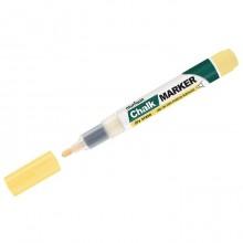 """Маркер меловой """"MunHwa"""", 3мм, круглый, быстросохнущая основа, жёлтый, 1шт в пакете"""
