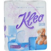 """Бумажные полотенца """"Kleo"""", 2 слоя, белые, упакованы по 2 рулона"""