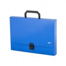 """Папка-портфель пластиковый """"Hatber"""", А4, 1000мкм, серия """"Standard"""", синий"""
