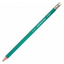 """Карандаш чернографитный """"Staff HB"""", заточенный, пластиковый зелёный корпус, с ластиком"""