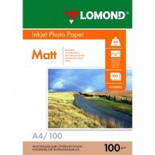 Фотобумага для струйной печати Lomond A4/100 г/м2/ 25 листов. Матовая двухсторонняя