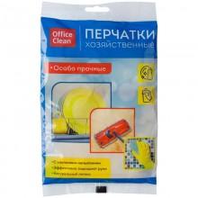 """Перчатки резиновые """"OfficeClean"""", M -  размер, жёлтые, 1 пара в пакете"""
