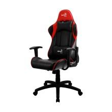 Игровое компьютерное кресло, Aerocool, AC100 AIR BR,  Искусственная кожа PU AIR, (Ш)53*(Г)54*(В)121 (131) см, Чёрно-Красный