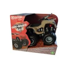 Инерционный внедорожник 12см, X Game kids, X7660, Серия OFF-ROAD, Открытая упаковка, Бежевый кузов, Цветная русифицированная коробка
